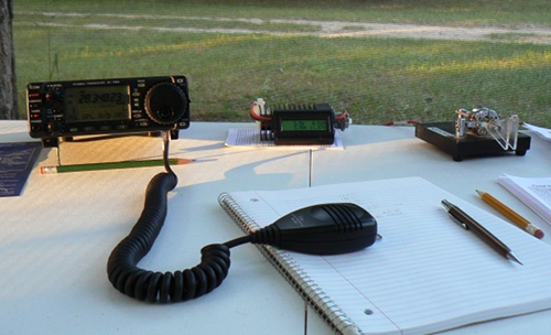 IC-703+ at Field Day